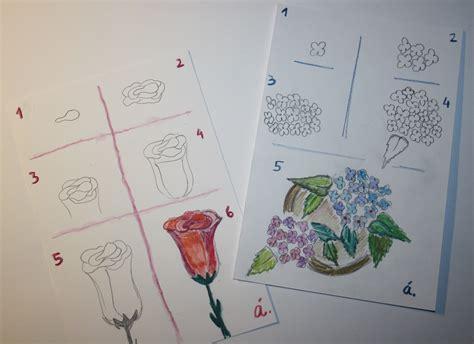 imagenes de flores para dibujar faciles paso a paso paso a paso para dibujar flores lunapelota
