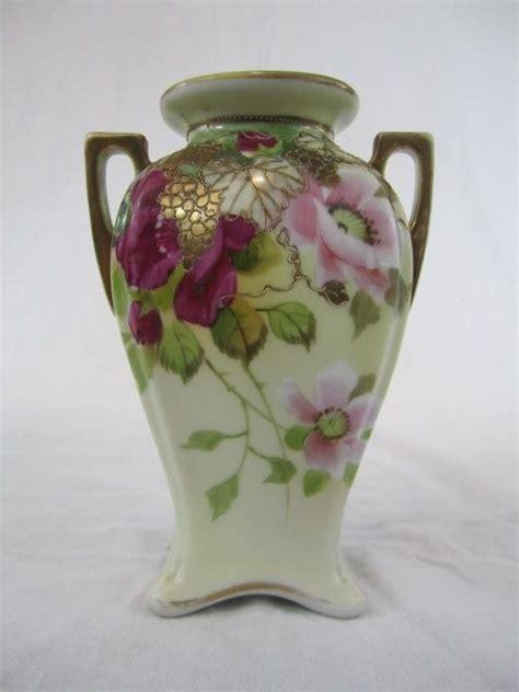 Nippon Porcelain Vase by Nippon Floral Vase Nippon Porcelain