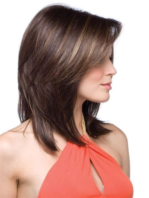 medium length frosted hair 60 popular shoulder length hairstyles