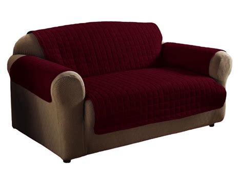 1 pc burgundy soft micro suede sofa pet furniture