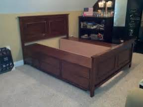 Diy Bed Frame With Storage Plans King Diy Platform Bed With Storage Modern Storage
