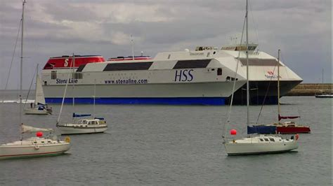 biggest catamaran ferry the world s largest fast ferry stena hss explorer youtube