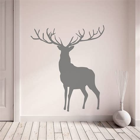 stag and deer vinyl wall stickers by oakdene designs notonthehighstreet