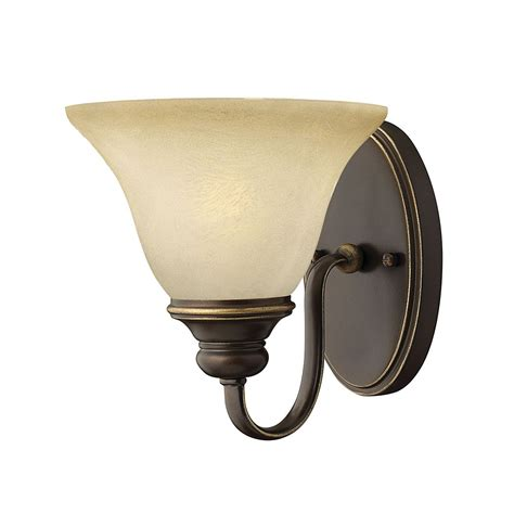 cello single wall light in antique bronze with vintage