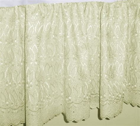 lace bed skirt ivory eyelet lace bedskirt in all sizes including crib