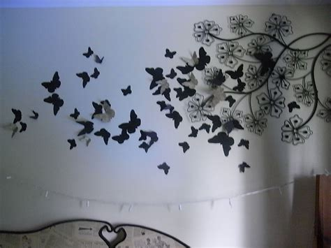 bedroom walls diy butterfly wall decor art ideas for and 3d butterfly wall art diy wallartideas info