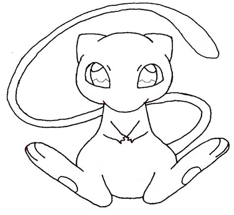 n mew coloring pages