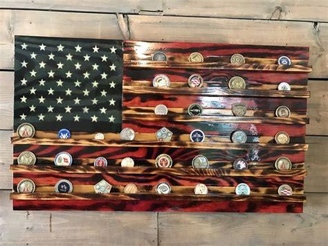 Handmade Flags - 15 best challenge coin holders handmade wood flags