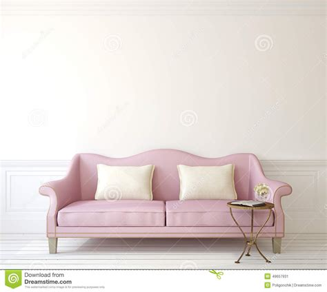 romantic couch interior with couch stock illustration image 49657931