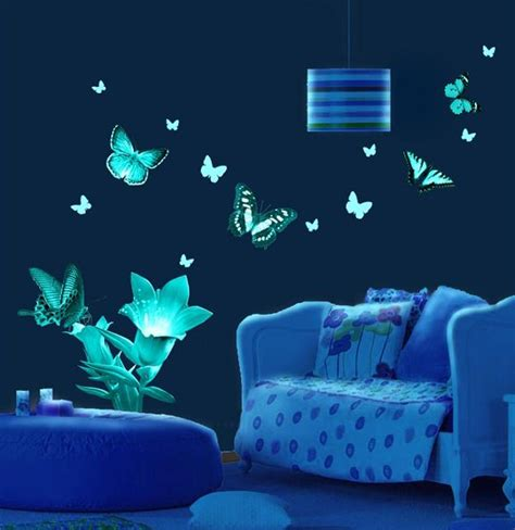 glow in the paint bedroom ideas luminous murals adding mystery and originality to modern