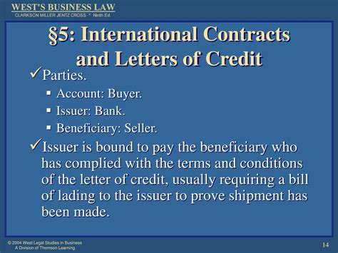 Contract And Letter Of Credit Ppt Chapter 21 Performance Of Sales And Lease Contracts Powerpoint Presentation Id 657110