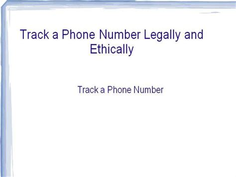 Erie Tracker Phone Number Track A Phone Number Legally And Ethically Authorstream