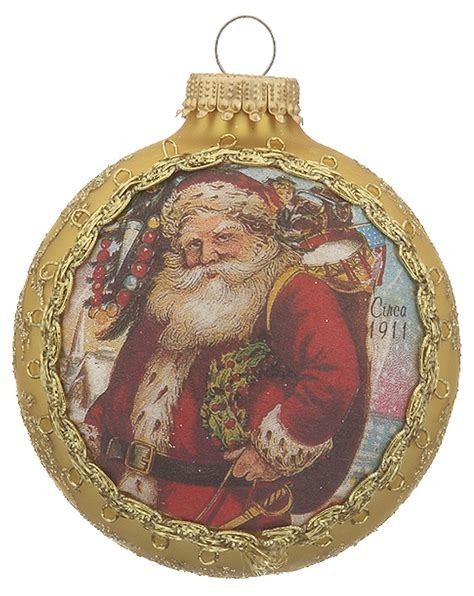2017 santa on silk 1911 santa claus christmas ornament