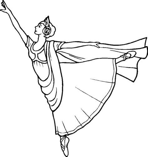 Ballet Positions Coloring Pages Coloring Part 3 Coloring Page Ballerina