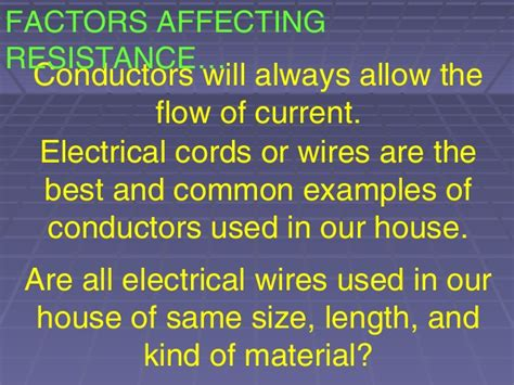 what factors affect the resistance of a resistor 3 factors affecting wire resistance