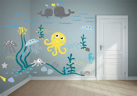 Childrens Wall Mural Stickers baby nursery inspiring baby room decoration with blue wall