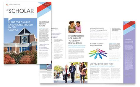 college brochure templates community college newsletter template word publisher