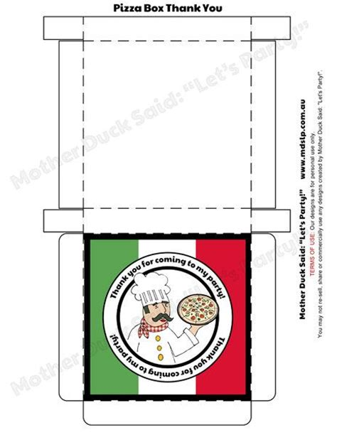 pizza party favor box super cute idea gives me idea to