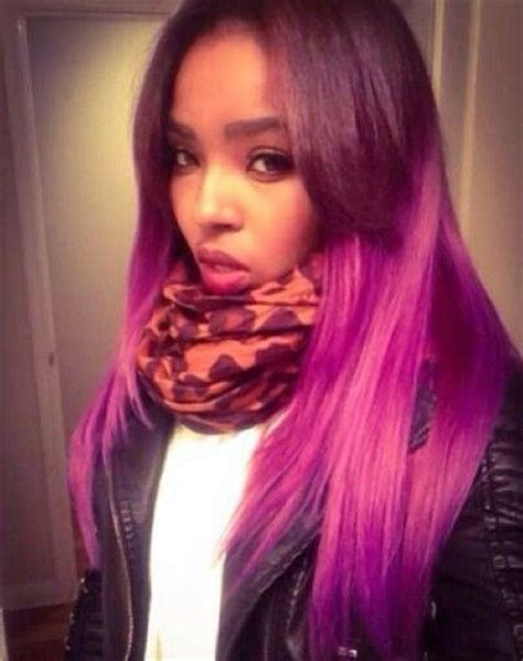 purple weave on black women long hair purple and pink weave colored women with