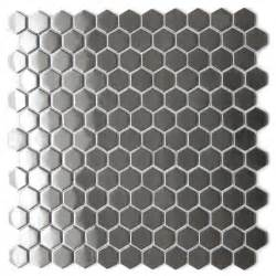eden mosaic tile honeycomb hexagon mosaic stainless steel tile emt 103 sil sm