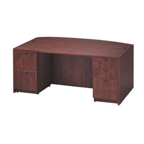 ndi office furniture bow front pedestal desk
