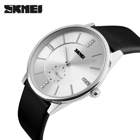 Skmei Casual Leather Water Resistant 30m 1168cl Bl 1 skmei jam tangan analog pria 1168cl silver black
