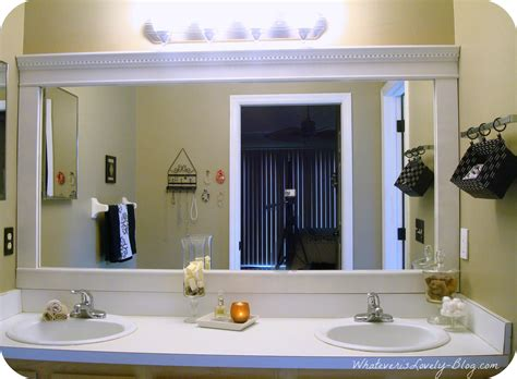 large bathroom mirror ideas upgrade a builders grade bathroom mirror although with my