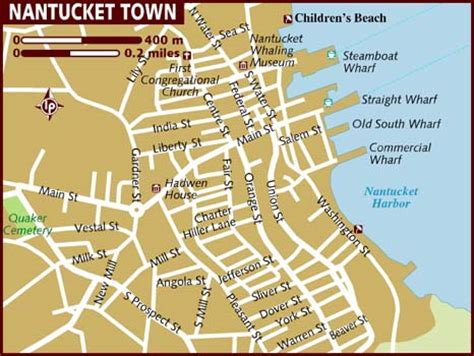 nantucket map map of nantucket