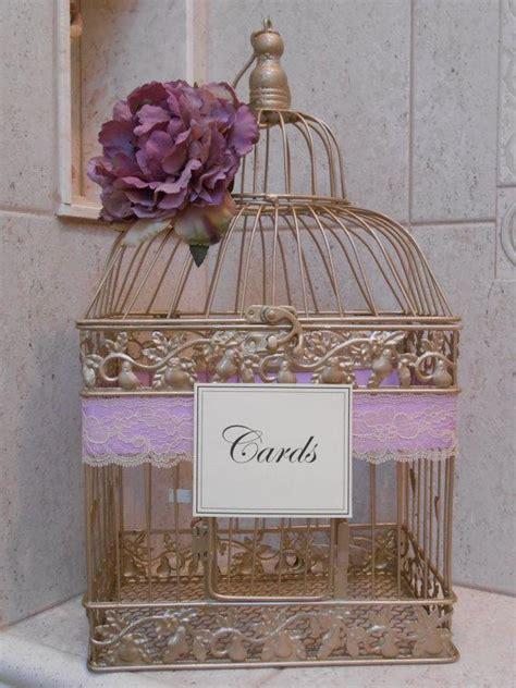 Wedding Card Holder Gold by Gold Birdcage Wedding Card Holder Card Box Lavender