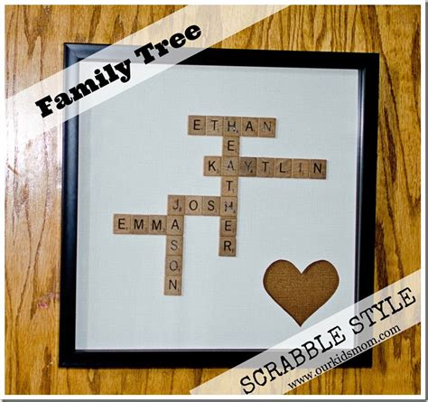 scrabble tiles craft diy craft family tree scrabble style