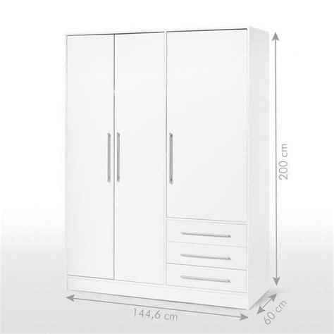armoire blanche pas cher 3762 jupiter armoire 145 cm blanche achat vente armoire de