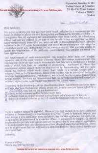 Certification Approval Letter Visa Denial Letter 214b