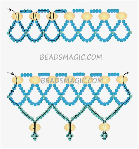 beading patterns free instructions free pattern for necklace hanna 2 bead weaving tutes