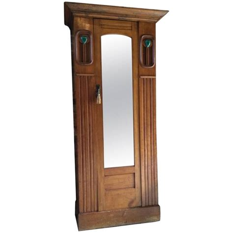 antique armoire with mirror antique arts and crafts single wardrobe walnut armoire