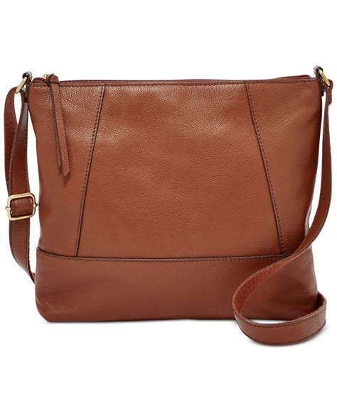 Fossil Crossbody Model 705b fossil medium crossbody in brown lyst