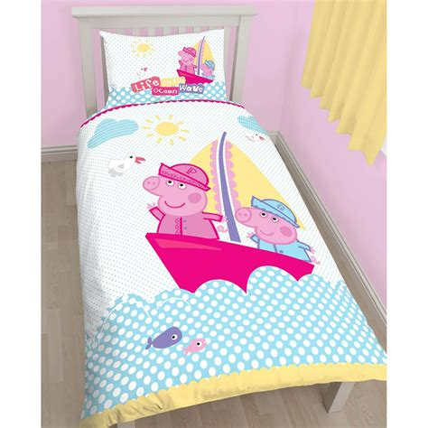 peppa pig curtains and bedding peppa pig nautical single duvet cover matching 54