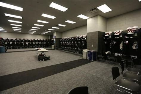 Panthers Locker Room by Panthers Guest Lockerroom Masculine Colors Carolina