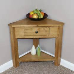 Living Room Corner Table Oak Corner Consol Table Plant Stand L Occasional Hallway Livingroom Dinning Ebay