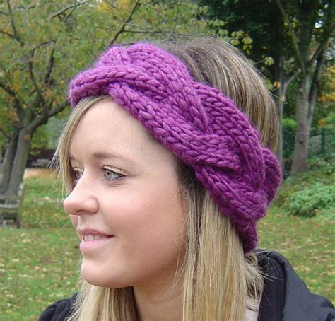 knitting headbands headband knitting pattern and easy beginner knit plaited