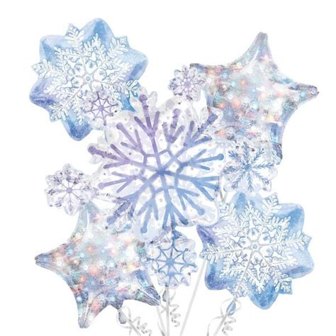 snowflake themed decorations snowflake balloon bouquet 5pc snowflakes frozen and