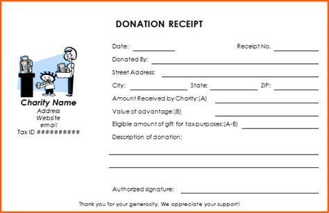 charity tax receipt template donation receipt templates professional realm receipt