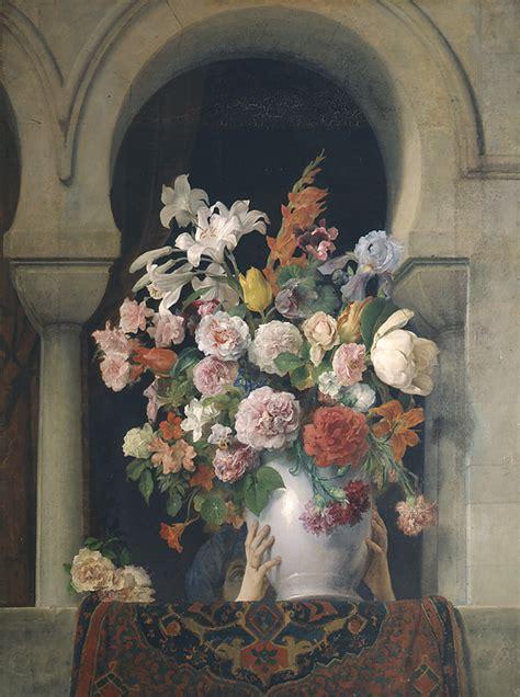 vase  flowers   window   harem pinacoteca  brera
