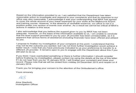Response Letter After Investigation How Agencies Bully The Unemployed And Get Away With It New Matilda