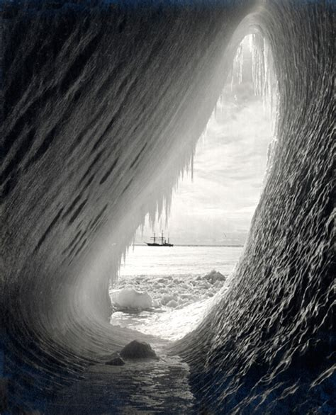 Grotto In An Iceberg By Herbert Ponting I Nic