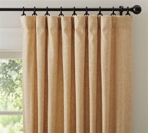 emery drapes emery linen drape pottery barn wheat for the home