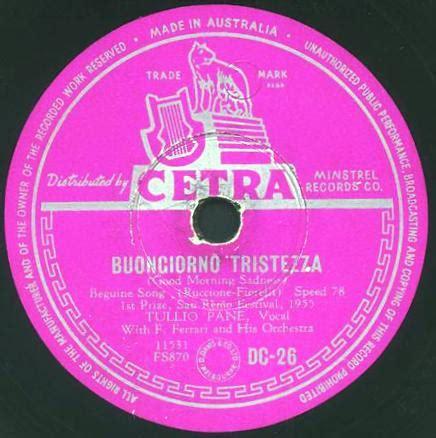 buongiorno tristezza testo festival di sanremo 1955 i cantanti le canzoni i testi