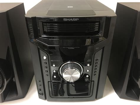 sharp 240w 5 disc mini shelf system bluetooth cd bh950 see details ebay