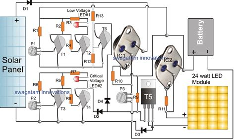 Simple Solar L Circuit by Simple Solar Led Light System Using Lm338 Ic