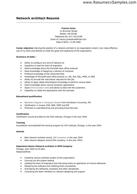 sle cover letter for architectural job
