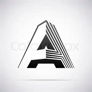 a design logo for letter a design template vector illustration